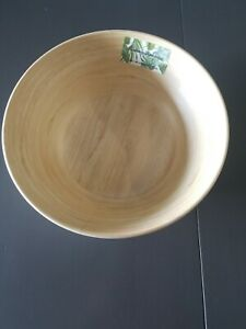 Tommy Bahama Melamine Large Serving Salad Bowl Wood Grain Indoor/Outdoor NEW