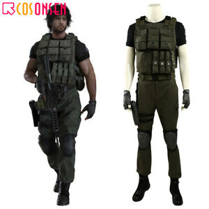 Resident Evil 3 Remake Carlos Oliveira Cosplay Costume Full Set Custom Made lot $76.50