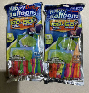 2 pack 222 balloons Instant Easy Fill Self Sealing Water Balloons Bunch Style
