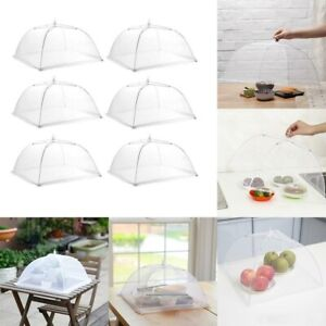 6pcs Food Cover Dome Large Collapsible Mesh Umbrella Fly Net Pop Up Plate US