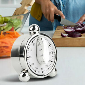 60 Minutes Mechanical Timer Cooking Reminder Count Down Alarm Clock Noted