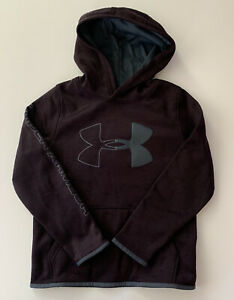 Under Armour Boys Hoodie Size Small Large 8 14 Logo ColdGear Purple Gray Grey $19.95