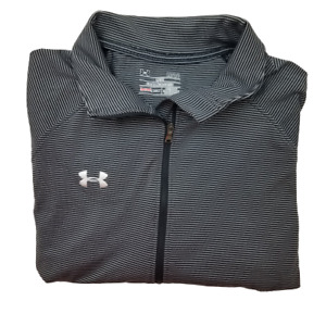 Under Armour Women's Large 1 4 Zip Stripe Long Sleeve Performance Polo $17.97