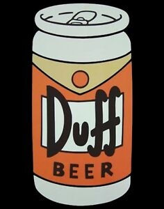 TIN SIGN quot;Duff Beerquot; Beer Mancave Wall Decor