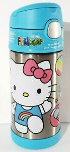 Brand New Hello Kitty Thermos Funtainer Stainless Steel Bottle Keeps Cold 12 oz