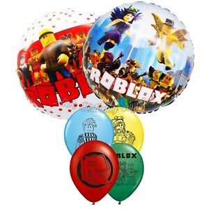 (6) pcs Roblox Balloons Birthday Party Supplies FREE SHIPPING