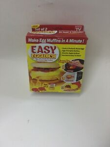 EASY EGGWICH SET OF TWO - MICROWAVE EGG MUFFINS COOKER IN A MINUTE