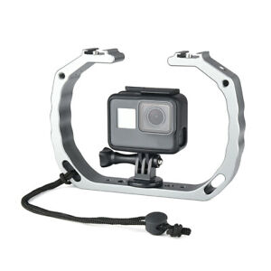 Diving Underwater Double Arm Handheld Support Stabilizer Holder Cage for Gopro $34.99