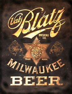 TIN SIGN quot; Blatz Beer quot; Beer Mancave Wall Decor