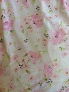 WONDERCALE SPRINGMAID Sheet Full Double Flat Floral Pink Sewing Cutter Craft Vtg