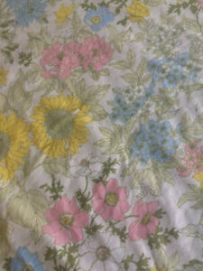 CANNON Full Flat Sheet Cotswold Floral Cottage Country Sewing Cutter Fabric FLAW