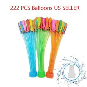 222 PCS Balloons Instant Rapid Fill water balloons self sealing pre tied