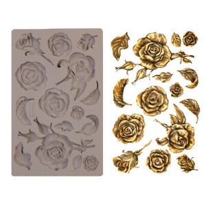 FRAGRANT ROSES - RE-DESIGN Prima Decor Moulds Molds Food Safe Silicone #644901