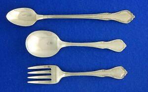 3 Piece Oneida TODDLETIME Baby Set Fork Spoon Stainless Flatware Silverware
