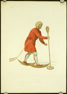 COSTUME RUSSIAN EMPIRE An Ostiak in His Winter Hunting Dress 1823