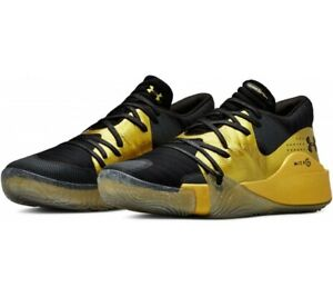Under Armour Anatomix Spawn Low Metallic Gold Men's Basketball Shoes. Size 11.5 $104.99