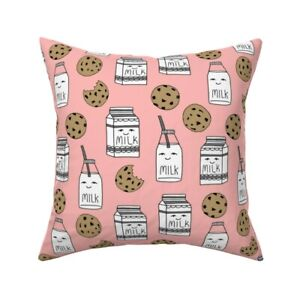 Midnight Snack Food Nursery Throw Pillow Cover w Optional Insert by Roostery