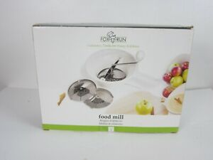 Food Mill Culinary Tool By Fox Run to Puree or Rice Foods 3 Settings
