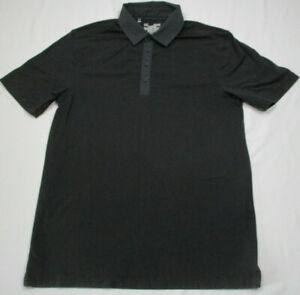 Mens Under Armour Gray HEAT GEAR Polo Short Sleeve Shirt Size Small Loose Fit $14.44