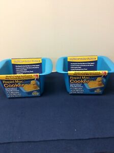 Rapid Mac Cooker 2-Pack Cooks in Microwave in 5 Minutes Great for Dorm Use  (S)