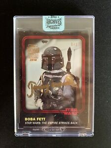 Topps Star Wars Archives Signature Jeremy Bolloch Boba Fett #1 1