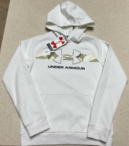Boy's Under Armour White Camo Fleece Pullover Hoodie Jacket Youth Size Medium $19.99
