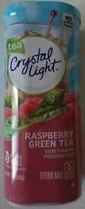 NEW CRYSTAL LIGHT RASPBERRY GREEN TEA DRINK MIX 10 QUARTS FREE WORLD SHIPPING