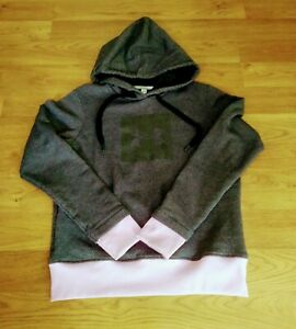 Under Armour Womens Dark Gray Pink Hoodie Logo Size Small Excellent Condition $12.99