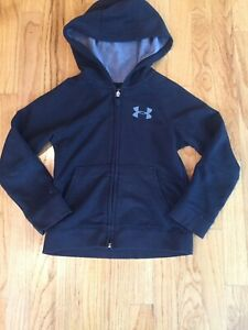 Under Armour Boys Black Zip Up Hoodie Long Sleeve Size Youth XS $9.00