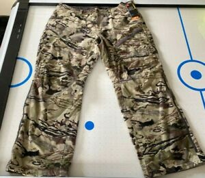Under Armour UA Grit Hunting Pants Scent Control Barren Camo Size 40 1347443 999 $64.99