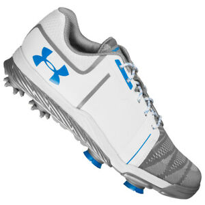 NEW Women's Under Armour UA Tempo Sport Golf Shoes White Blue Steel Pick Size $52.99