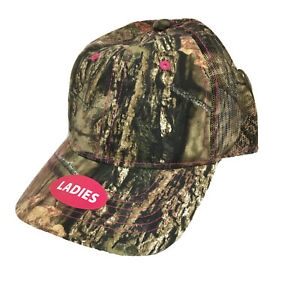 Real Tree and Mossy Oak Caps Lot of 6 Camo Women#x27;s Hunting Hook Loop Back New