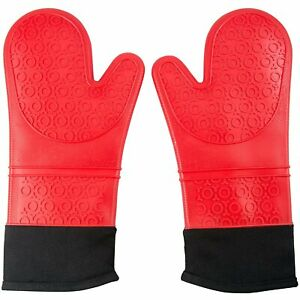 Extra Long Professional Silicone Oven Mitts -1 Pair