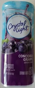 NEW CRYSTAL LIGHT CONCORD GRAPE DRINK MIX 12 QUARTS FREE WORLDWIDE SHIPPING $9.99