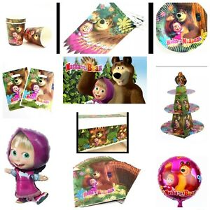 Masha and the Bear Balloons Masha and the Bear decorations