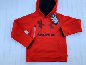 Under Armour Boy's Red Big Logo Hoodie Sweatshirt Size Youth XS YXS 6 8 NEW $22.39