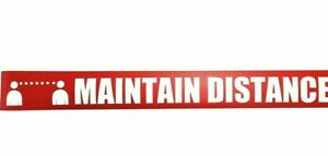 WTP115 Safety Message Sign Tape quot;MAINTAIN DISTANCEquot; 2.25 Inch x 54 Foot Roll
