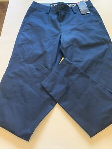 Under Armour Showdown Chino Golf Pants Navy Blue Mens Size 32 32 New $39.99