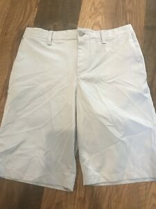 youth Boys Under Armour Golf Shorts loose size 16 gray VGUC $14.99