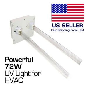 High power 72W UV Light Dual Lamp for HVAC AC duct whole house air purifier 110V
