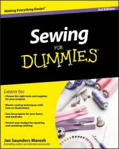 Sewing For Dummies Paperback By Saunders Maresh Jan GOOD $8.07