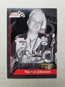 WARREN JOHNSON THE PROFESSOR 1993 NHRA P S FINISH LINE #7 9 AUTOGRAPH SERIES