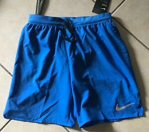 "Nike Flex Stride 7"" Lined Running Shorts AT4014 403 Dri Fit S Blue Brief Lined $35.99"