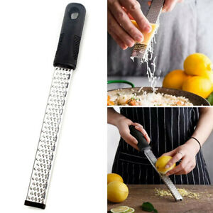 Stainless Steel Cheese Grater Zester Ginger Tool Lemon Shredder Handheld Flat #