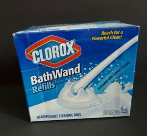 New Clorox Bath Wand Refill Box of 5 Cleaning Pads