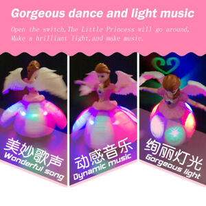 USA Toys for Girls Baby Dancing Princess Doll LED Lights Musical Kids Xmas Gift