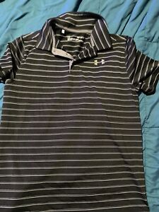 Under Armour boys polo shirts. 3 pieces. loose fit. Size youth XL. $28.78