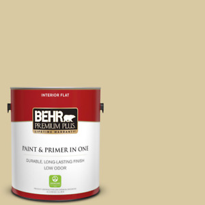 1 gal. #380F-4 Ground Ginger Flat Low Odor Interior Paint and r in One