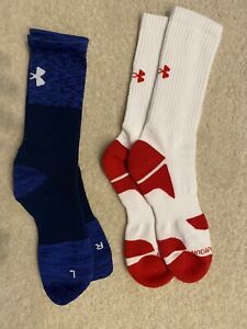 Mens Under Armour UA Crew Socks 2 pack $4.20
