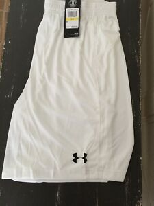Mens Under Armour Size Medium White Heat Gear Pull On Athletic Shorts NWTS $14.00